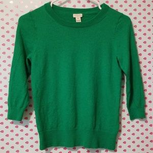J. Crew, sz M 3/4 sleeve sweater,  EUC